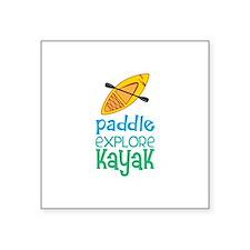 Paddle Explore Kayak Sticker