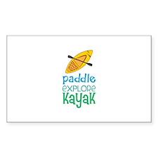 Paddle Explore Kayak Decal