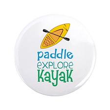 "Paddle Explore Kayak 3.5"" Button (100 pack)"