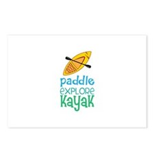 Paddle Explore Kayak Postcards (Package of 8)