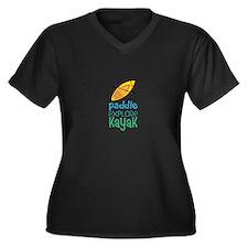 Paddle Explore Kayak Plus Size T-Shirt