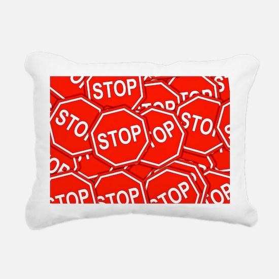 Stop Signs Rectangular Canvas Pillow