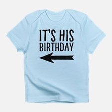 It's His Birthday (left Arrow) Infant T-Shirt