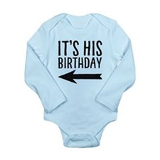 Left Arrow Long Sleeve Baby Body Suit