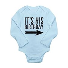 Right Arrow Long Sleeve Baby Body Suit