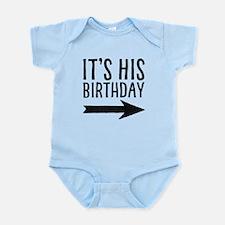 It's His Birthday (right Arrow) Baby Body Suit