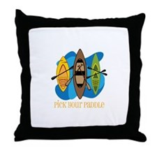 Pick Your Paddle Throw Pillow