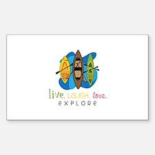 Live Laugh Love Explore Decal