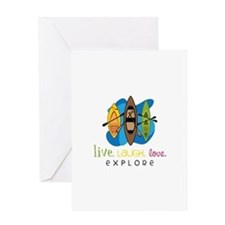 Live Laugh Love Explore Greeting Cards