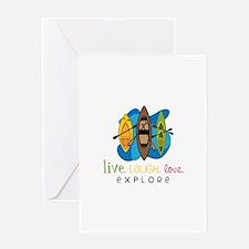 Live Laugh Love Explore Greeting Cards