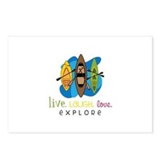 Live Laugh Love Explore Postcards (Package of 8)