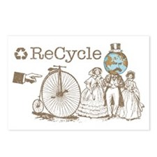 Retro Recycle Postcards (Package of 8)