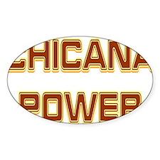 Chicana Power Trekker Oval Decal