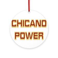 Chicano Power Trekker Ornament (Round)