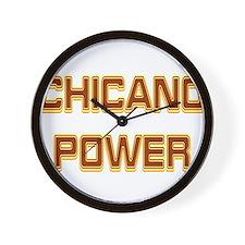 Chicano Power Trekker Wall Clock