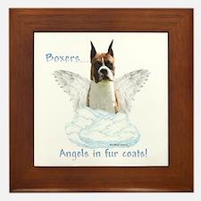Boxer Angel Framed Tile