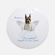 Boxer Angel Ornament (Round)