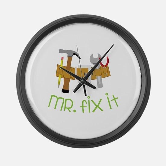 Mr Fix It Large Wall Clock