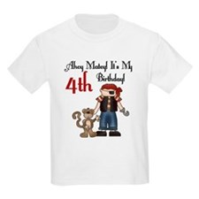 Pirate Party 4th Birthday Kids T-Shirt