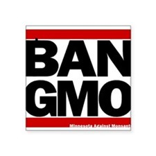 "Funny Gmo Square Sticker 3"" x 3"""