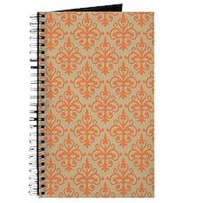 Celosia Orange & Black Damask 41 Journal