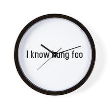 I know kung foo Wall Clock