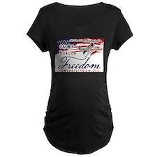 Family Future Freedom Maternity T-Shirt