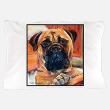 Red Bullmastiff on Fence Pillow Case