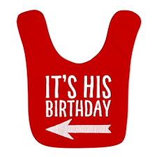 It's His Birthday (left Arrow) Red Bib