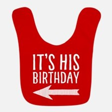 It's His Birthday (left Arrow) Red Bib