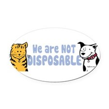Funny Pet rescue Oval Car Magnet