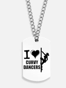 I Love Curvy Dancers Dog Tags