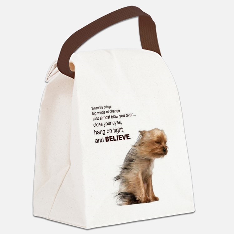 Yorkie Canvas Lunch Bag
