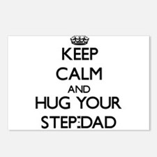 Keep Calm and Hug your Step-Dad Postcards (Package