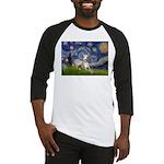 Starry Night Whippet Baseball Jersey