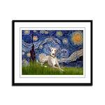 Starry Night Whippet Framed Panel Print