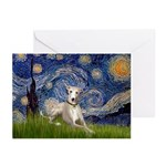 Starry Night Whippet Greeting Cards (Pk of 10)