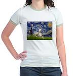 Starry Night Whippet Jr. Ringer T-Shirt
