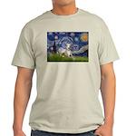 Starry Night Whippet Light T-Shirt