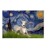 Starry Night Whippet Postcards (Package of 8)