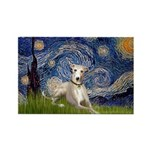 Starry Night Whippet Rectangle Magnet