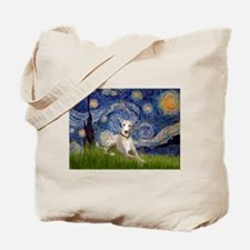 Starry Night Whippet Tote Bag