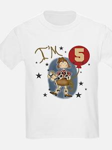 Cowgirl 5th Birthday Kids T-Shirt