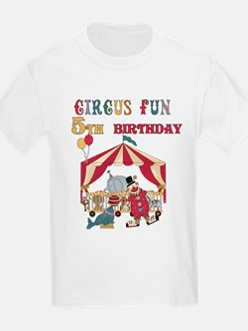 Circus Fun 5th Birthday T-Shirt