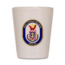 DDG-54 USS Curtis Wilbur Shot Glass