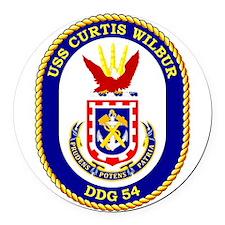DDG-54 USS Curtis Wilbur Round Car Magnet