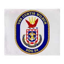 DDG-54 USS Curtis Wilbur Throw Blanket