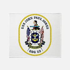 DDG 53 USS John Paul Jones Throw Blanket