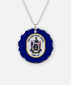 DDG 53 USS John Paul Jones Necklace
