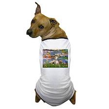 Lilies & Whippet Dog T-Shirt